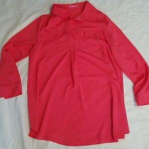 Isaac Mizrahi East Hampton Cayenne Shirt Sz 12 NEW